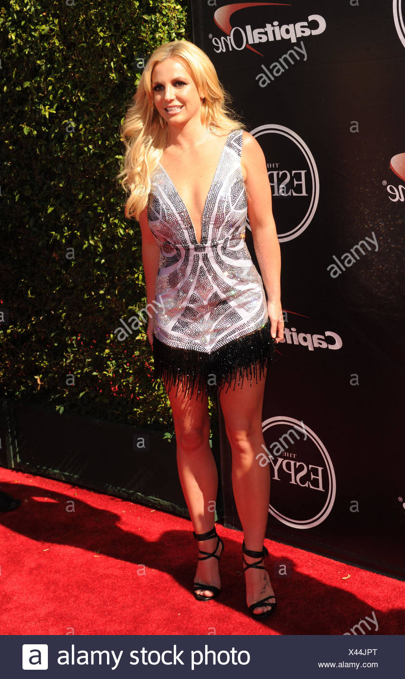 Singer Britney Spears arrives at the The 2015 ESPYS at Microsoft Theater on July 15, 2015 in Los Angeles, California., Additional-Rights-Clearances-NA - Stock Image