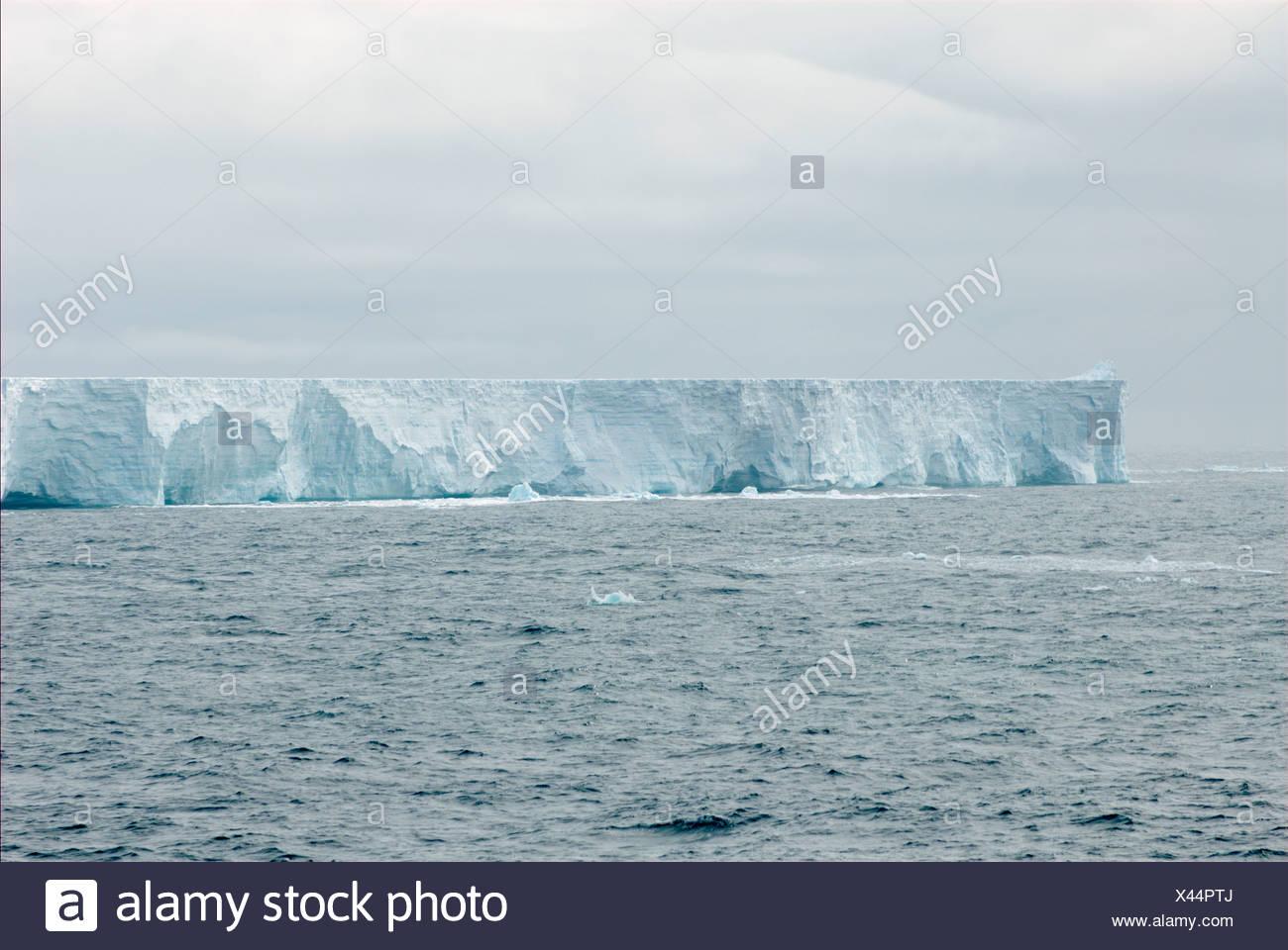 Iceberg in the southern Atlantic ocean - Stock Image