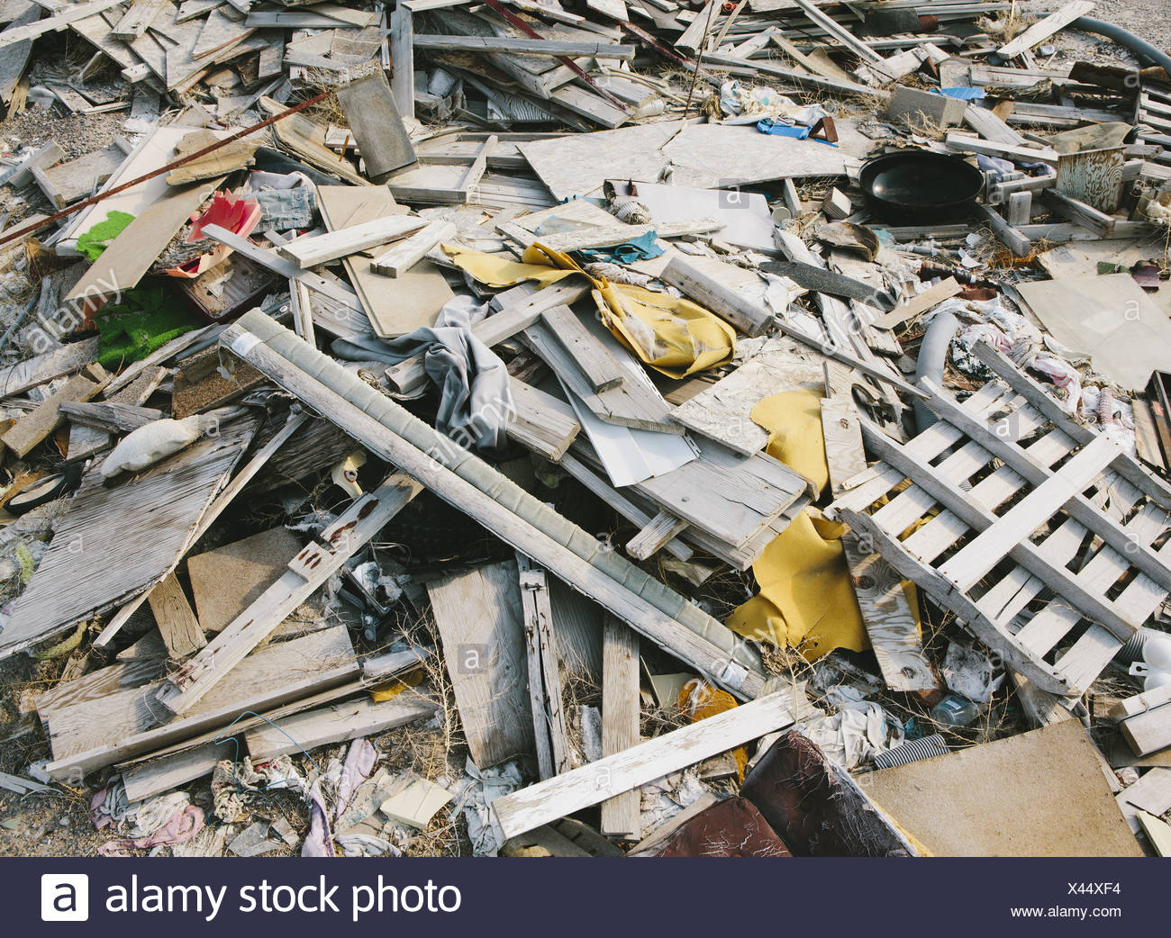 Utah USA heap of garbage discarded items domestic waste - Stock Image