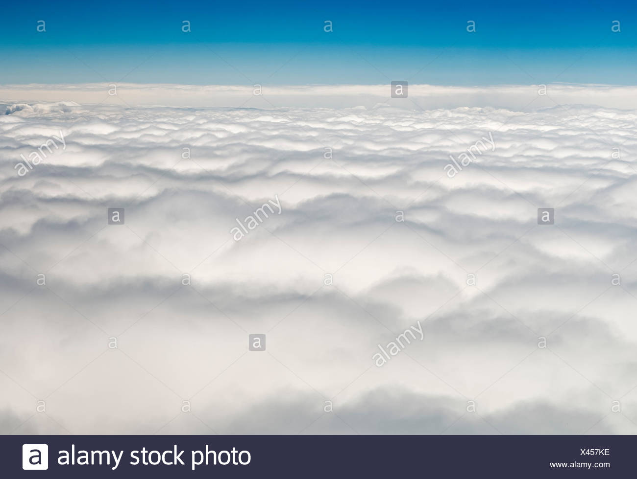 Overcast clouds, above the clouds, Germany - Stock Image