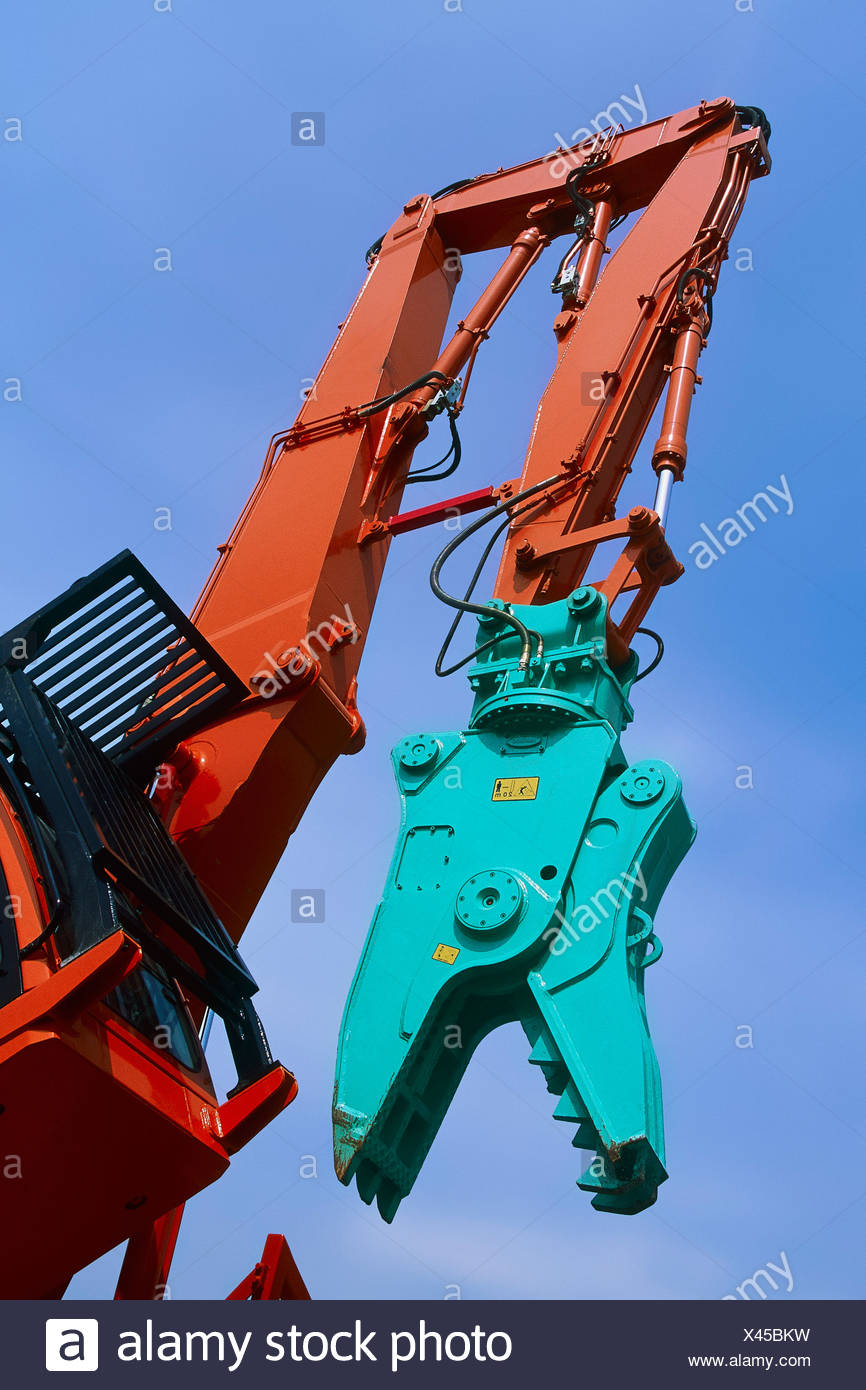 Daewoo Stock Photos Images Page 3 Alamy Cielo Workshop Manual English Pulveriser Attachment On Hydraulic Arm Image