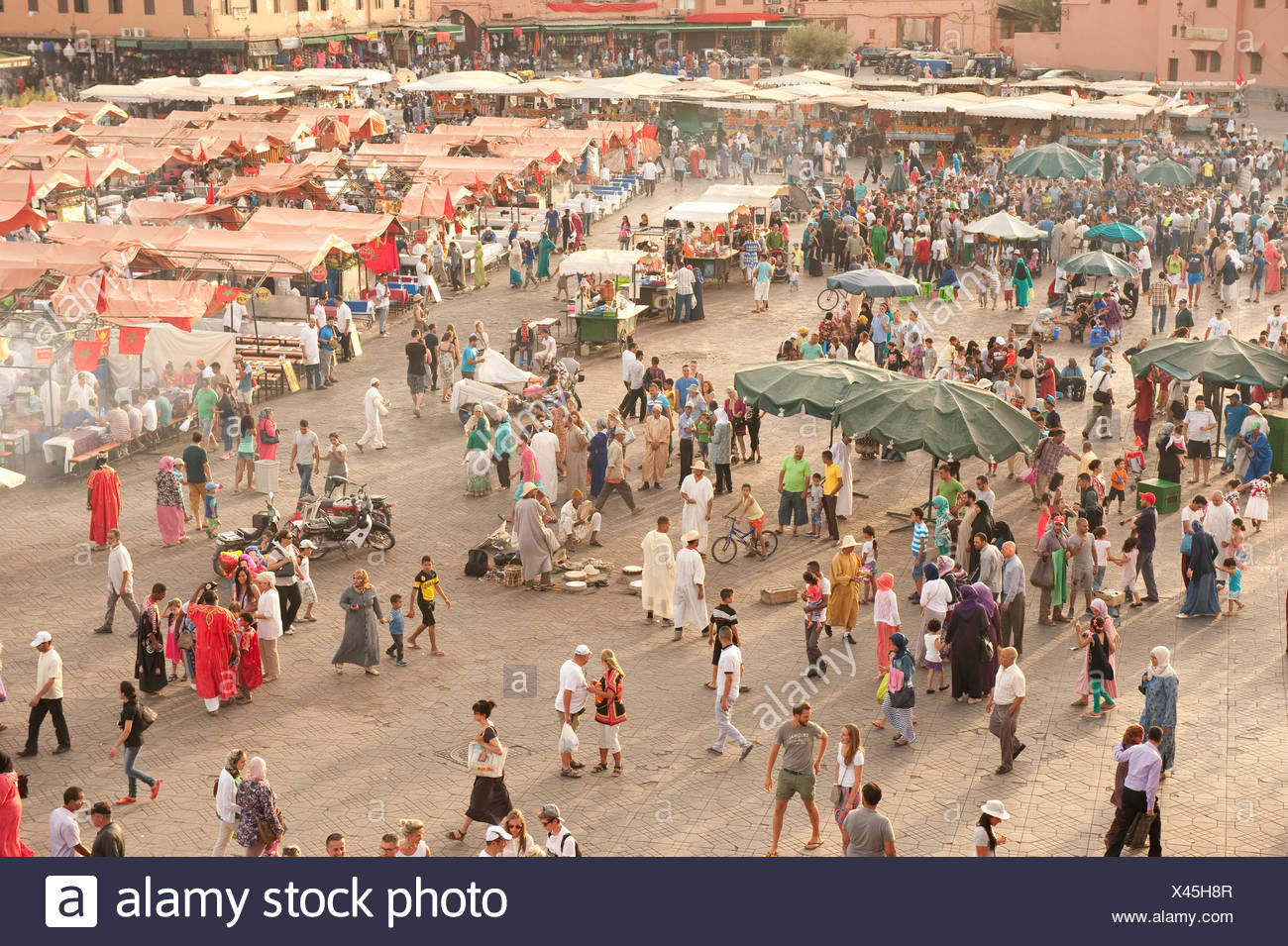Djemaa el-Fna, Marrakesh, Morocco - Stock Image