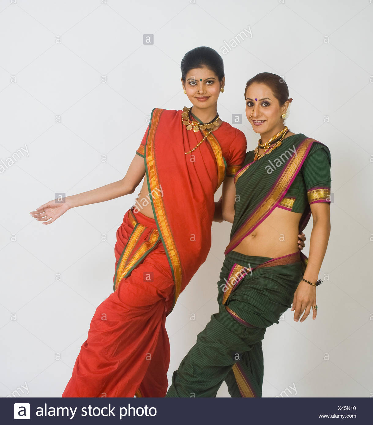 Portrait of two women dancing - Stock Image