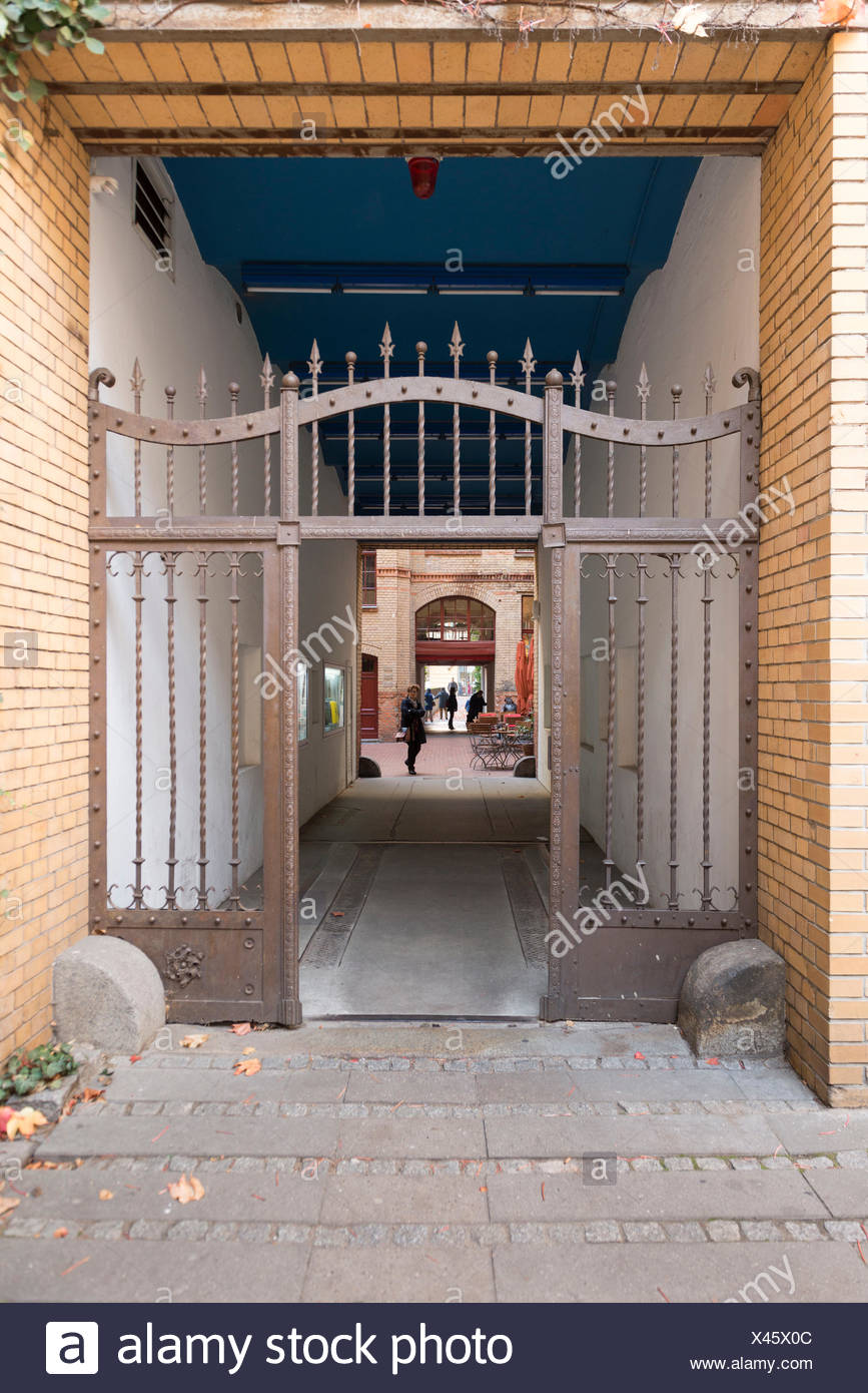 Germany, Berlin, entrance of the Sophie-Gips-Höfe (courts) - Stock Image