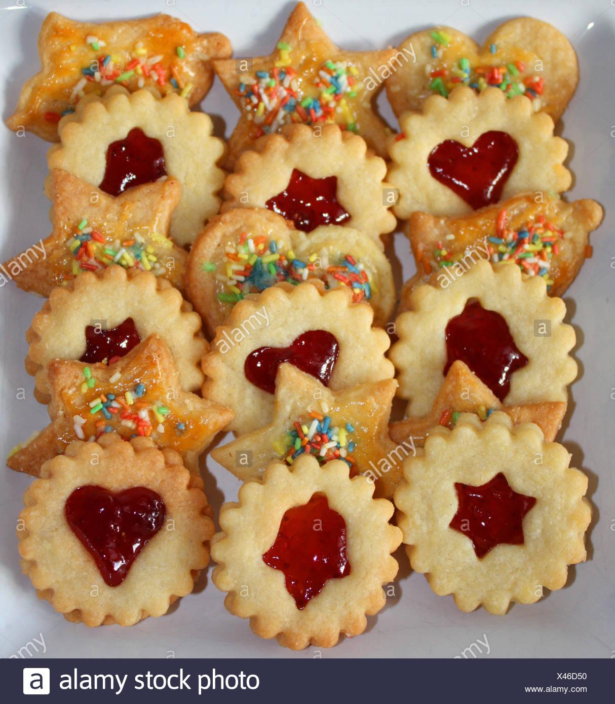 Weihnachtskekse Mit Marmeladenfüllung.Jam Biscuits Cookies Christmas Cookies Shortcrust Christmas