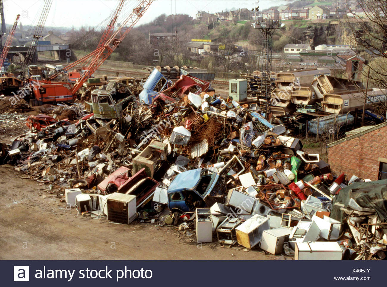 Scrap yard in the UK Stock Photo