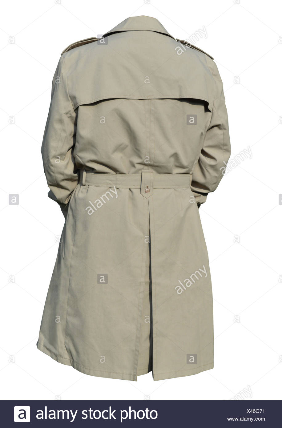 Male trench coat - Stock Image