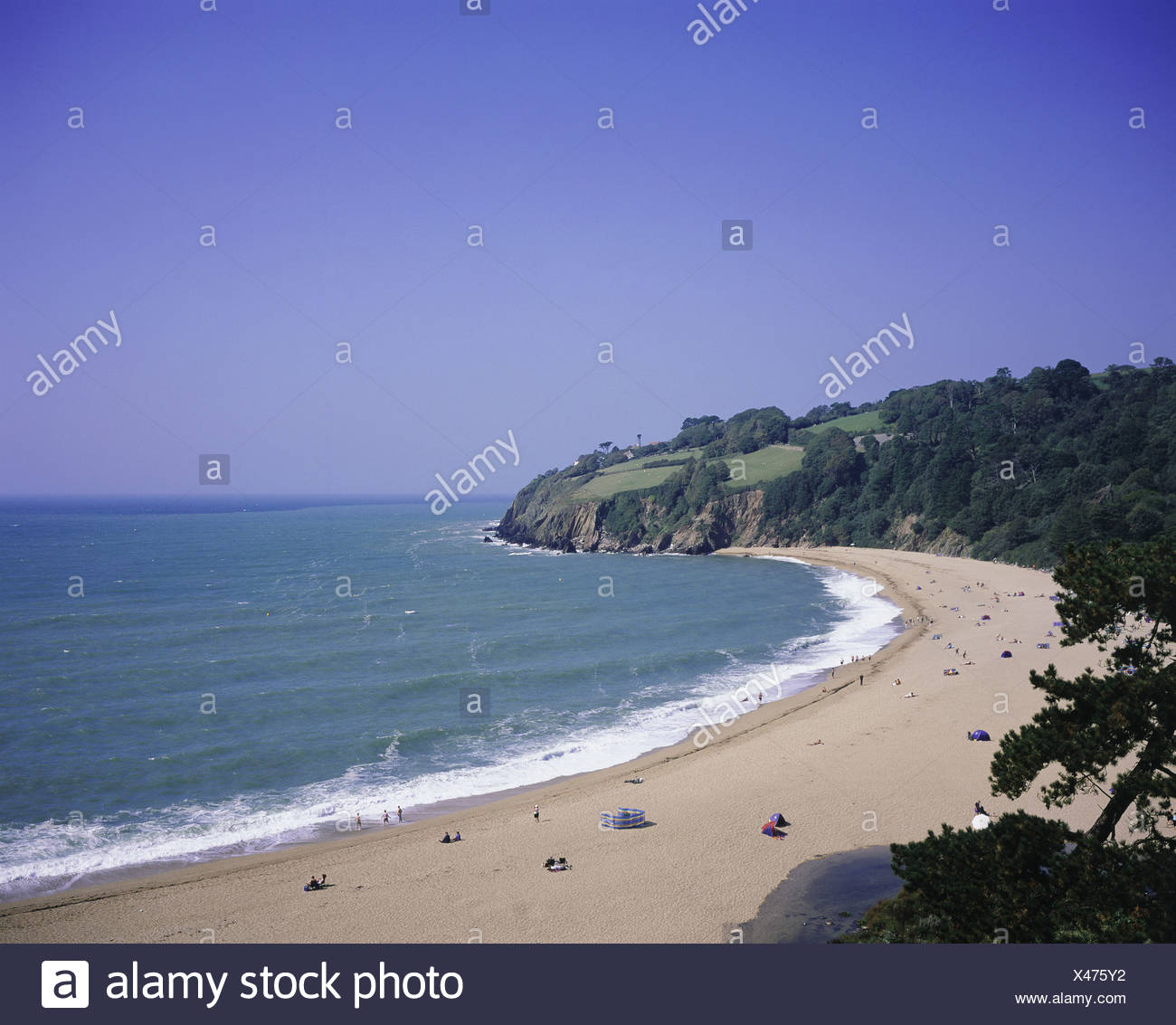 Blackpool Sands, Devon, England - Stock Image