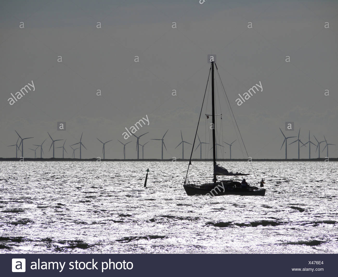 sailing in the baltic sea - Stock Image