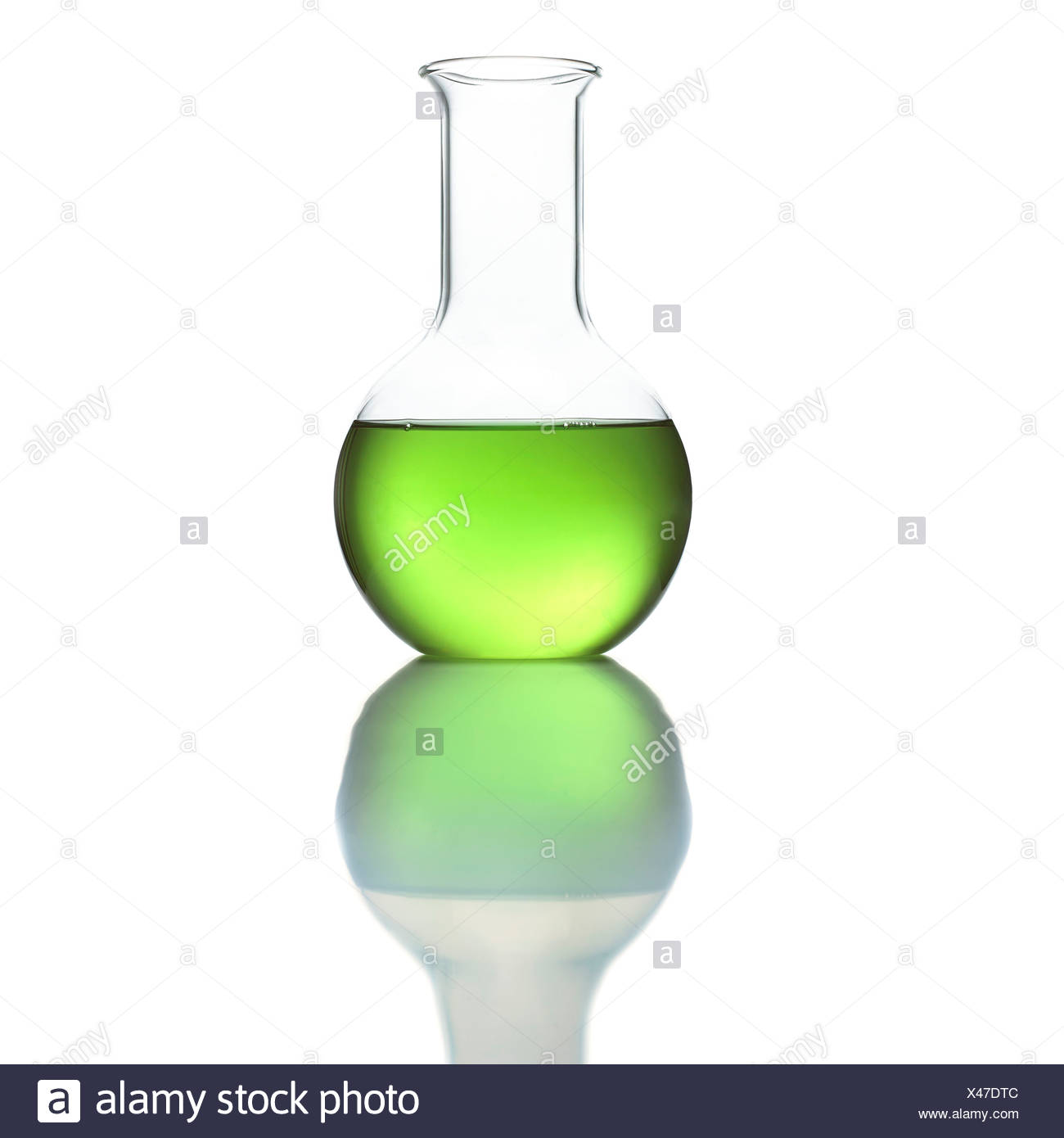 Flat bottom flask - Stock Image