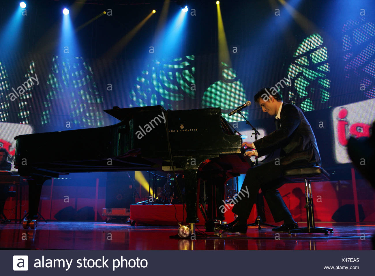 Peter Cincotti, US singer and songwriter, performing live at Energy Stars For Free at Hallenstadion Zurich, Switzerland - Stock Image