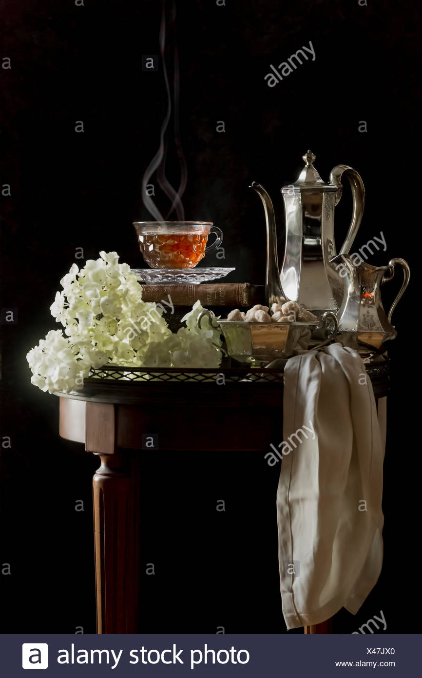 Tea service served in a traditional manner - Stock Image