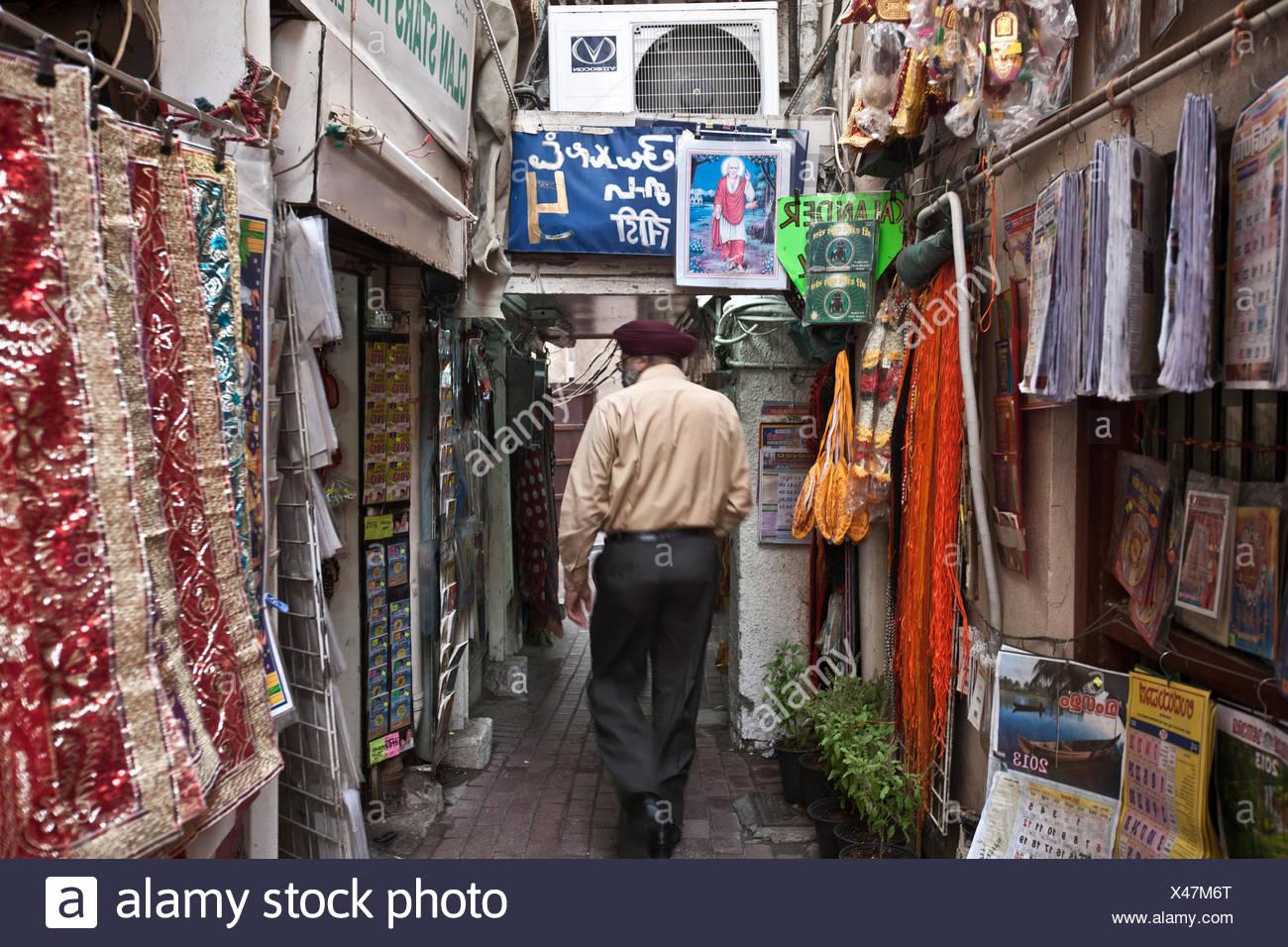 Indian Stores Around The Hindu Temple In Bastakiya Area
