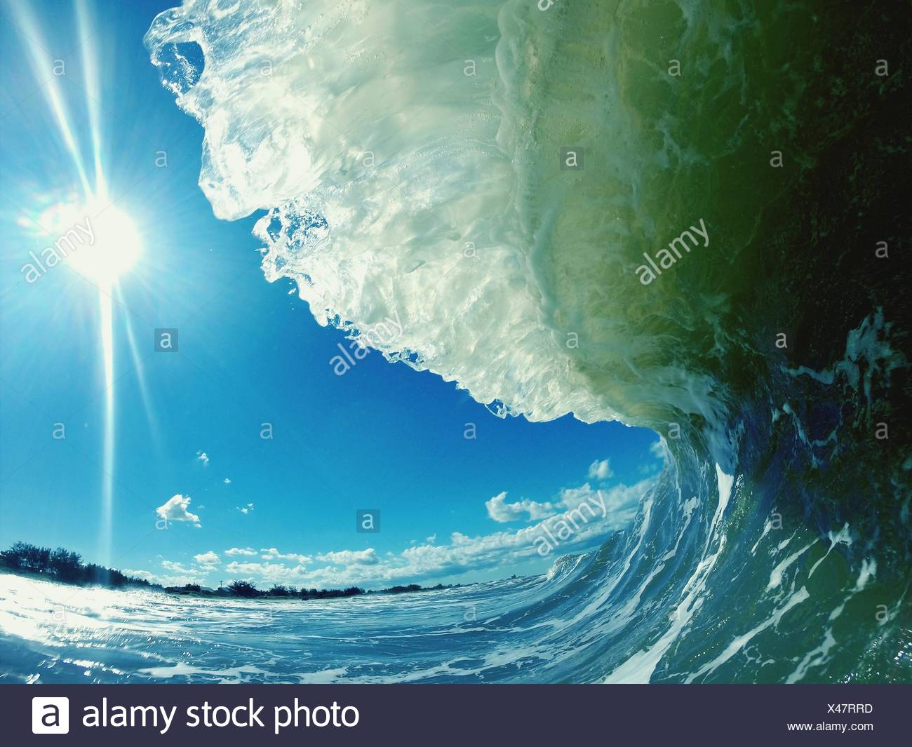 Close-Up Of Breaking Wave - Stock Image