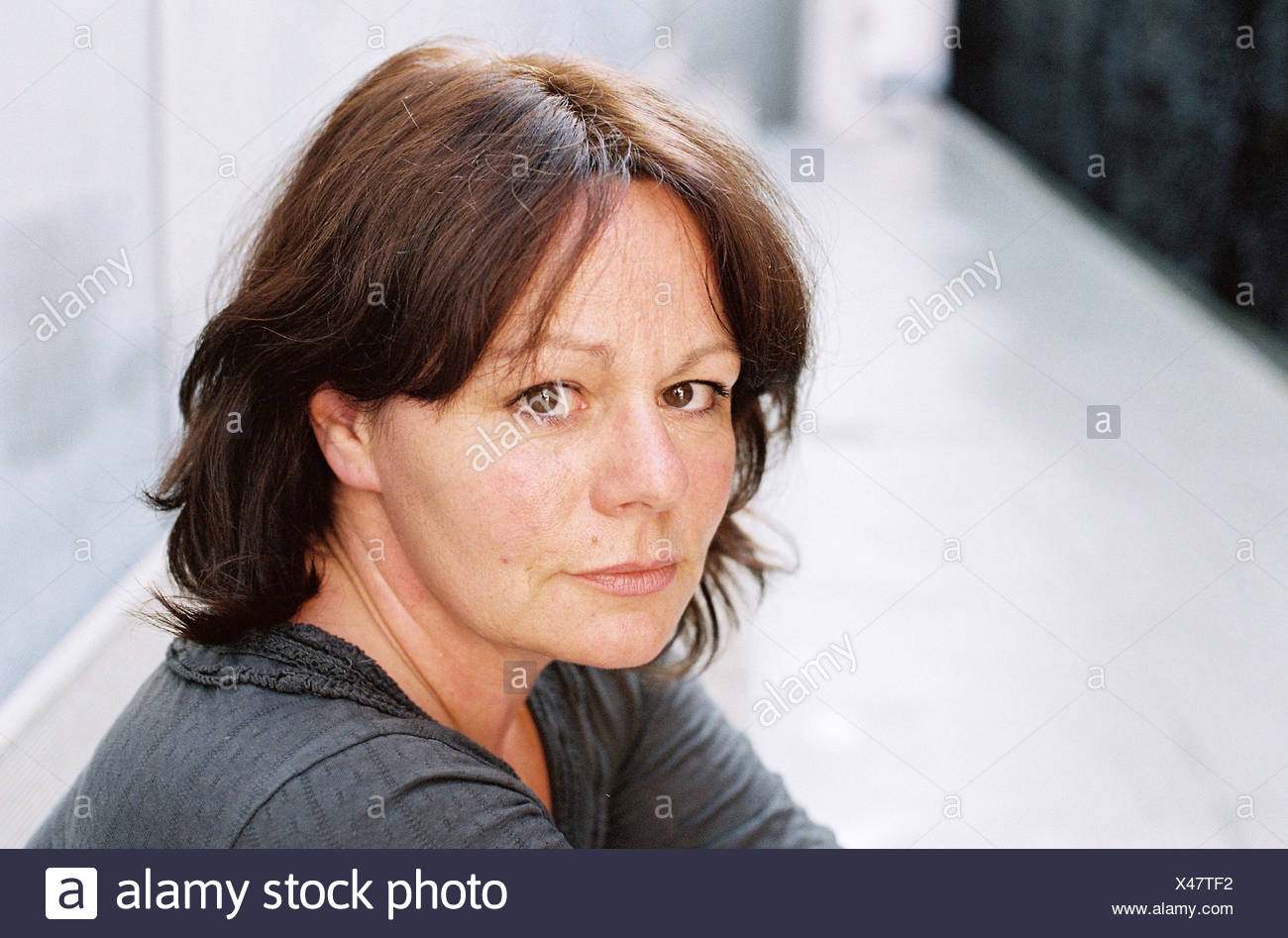Gerster, Andrea, * 1959, Swiss author / writer, portrait, 7. International Literature Festival, Additional-Rights-Clearances-NA - Stock Image