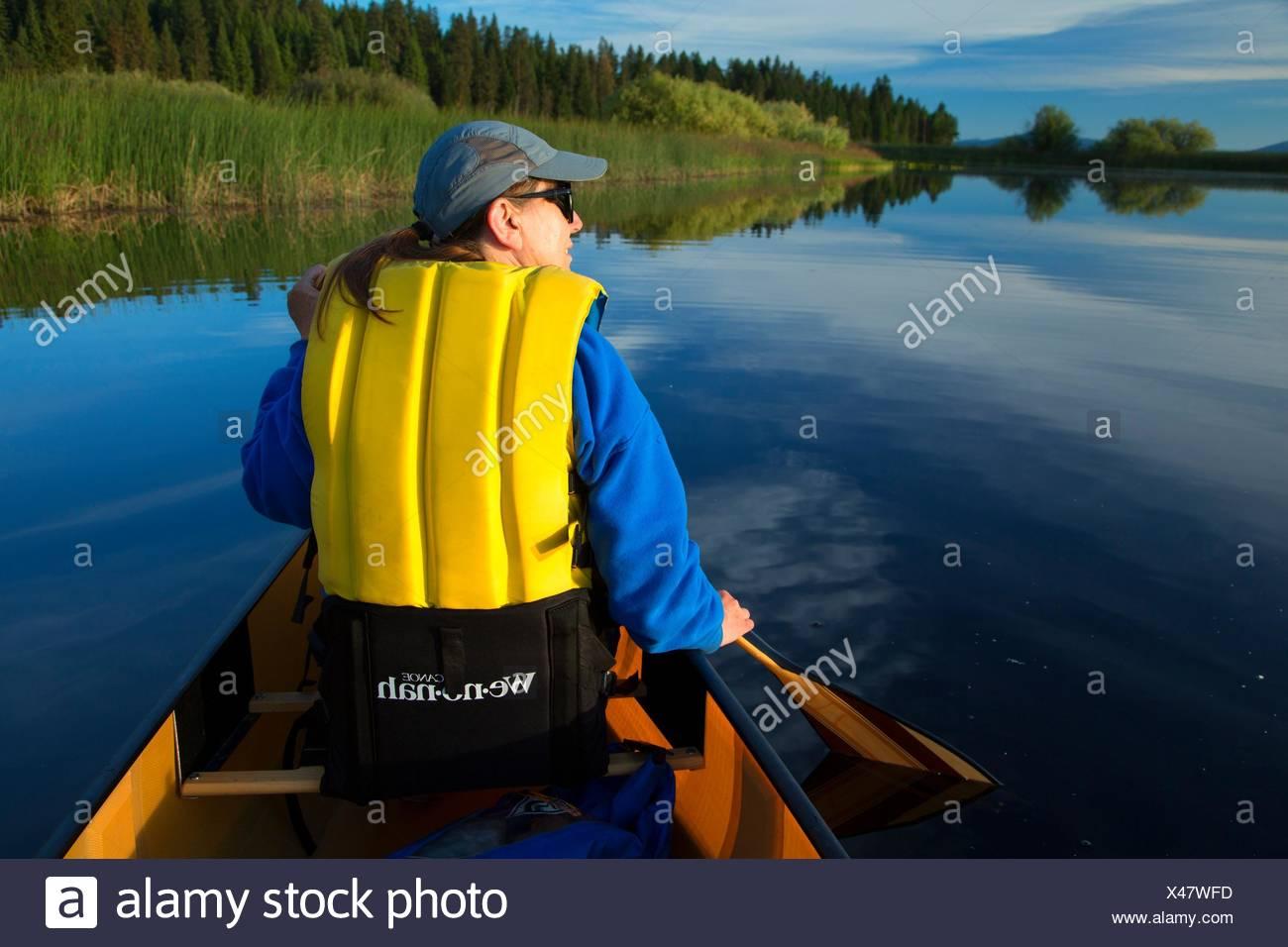 Upper Klamath Canoe Trail, Winema National Forest, Volcanic Legacy Scenic Byway, Oregon. - Stock Image
