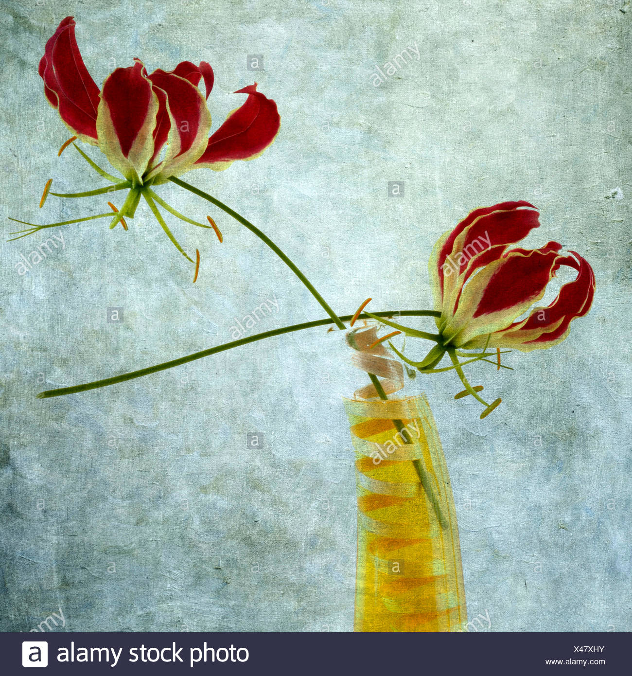 Red lilies flowers stock photos red lilies flowers stock images red lilies flowers vintage look stock image izmirmasajfo