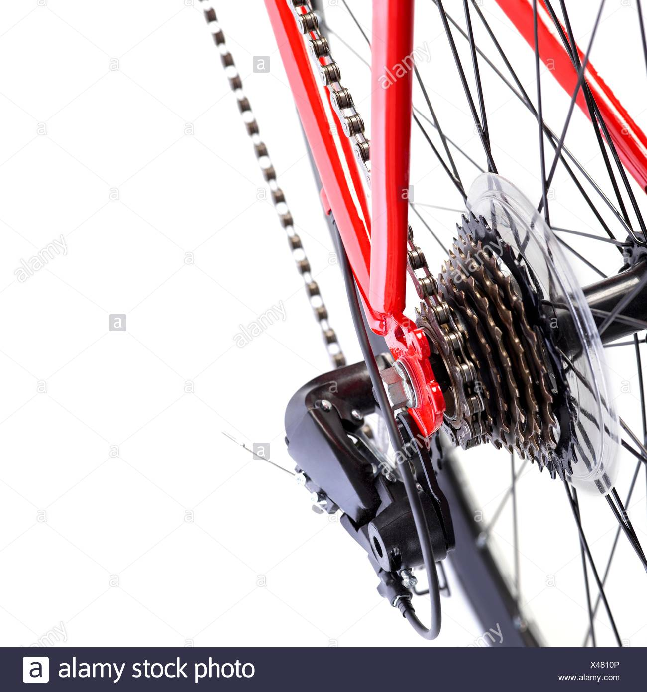 Bicycle rear gears, close up. - Stock Image