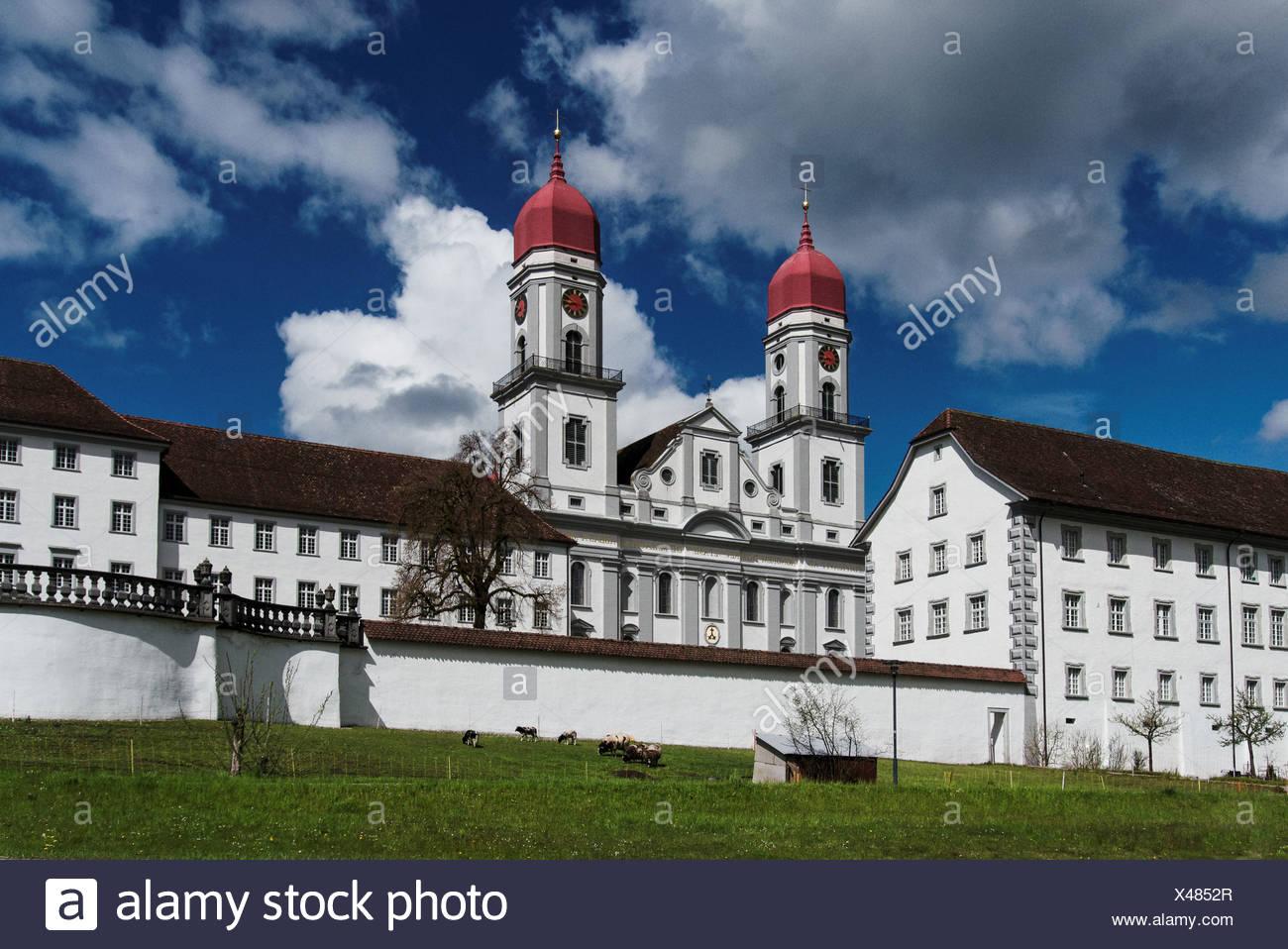 Christianity, canton, Lucerne, Catholic, church, cloister, religion, Switzerland, Europe, Saint Urban, vita communis - Stock Image