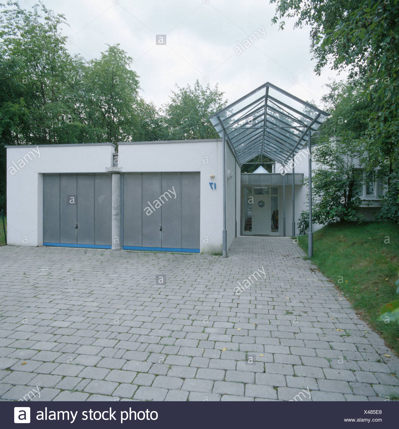 Carports With Garage Doors Pictures Pixelmaricom: Double Garages Stock Photos & Double Garages Stock Images