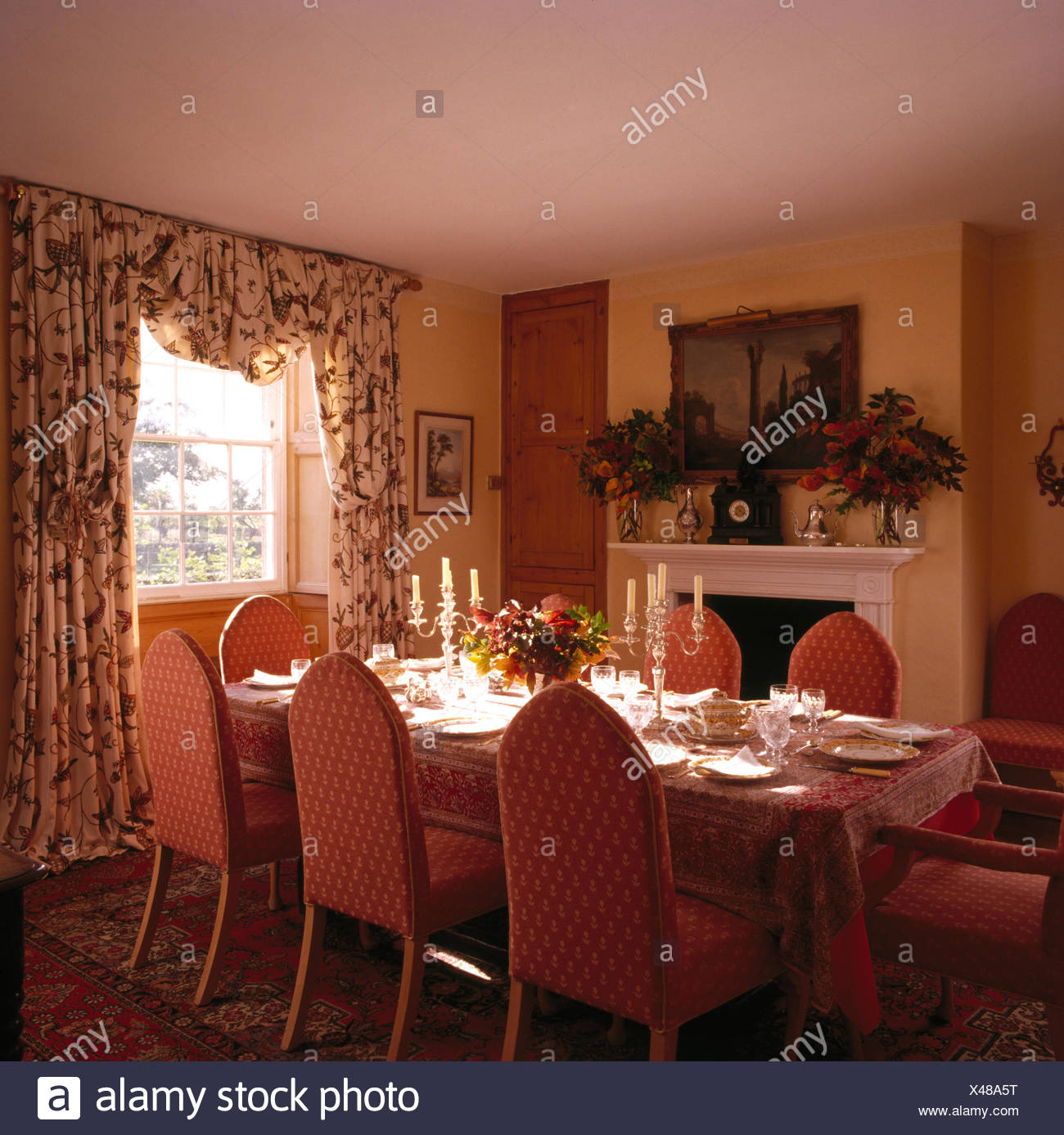 Country Style Dining Room Set Stock Photos & Country Style ...