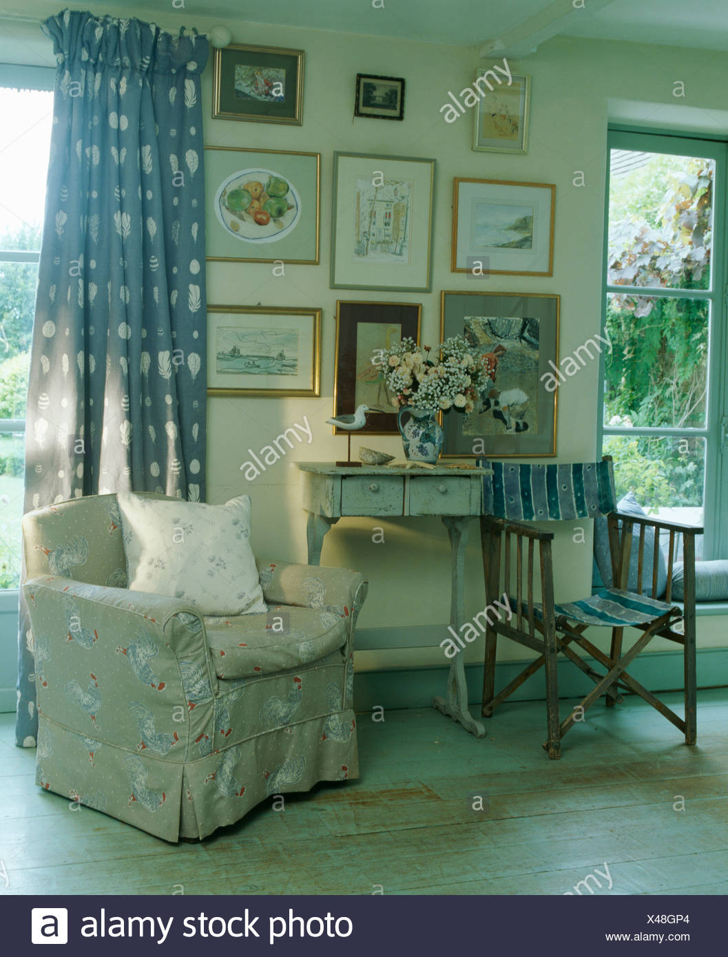 Director S Chair And Beige Armchair In Vanessa Arbuthnott