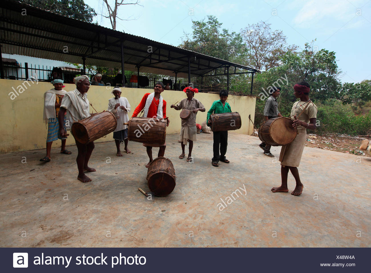 Praja Dance, Bison Horn Maria Tribe, Dantewada, Chattisgarh, India - Stock Image