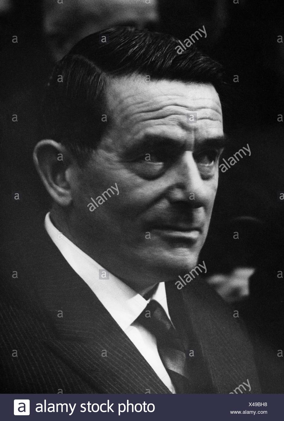 Mann, Golo, 27.3.1909 - 7.4.1994, German historian, portrait, 1960s, , Additional-Rights-Clearances-NA - Stock Image