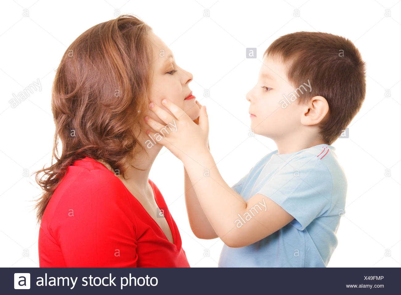 Son and mommy - Stock Image
