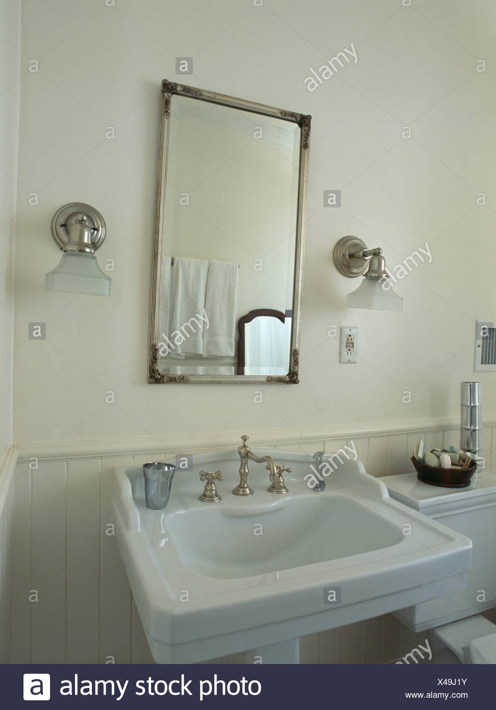 Traditional Bathroom Basin Monochromatic Stock Photos & Traditional ...