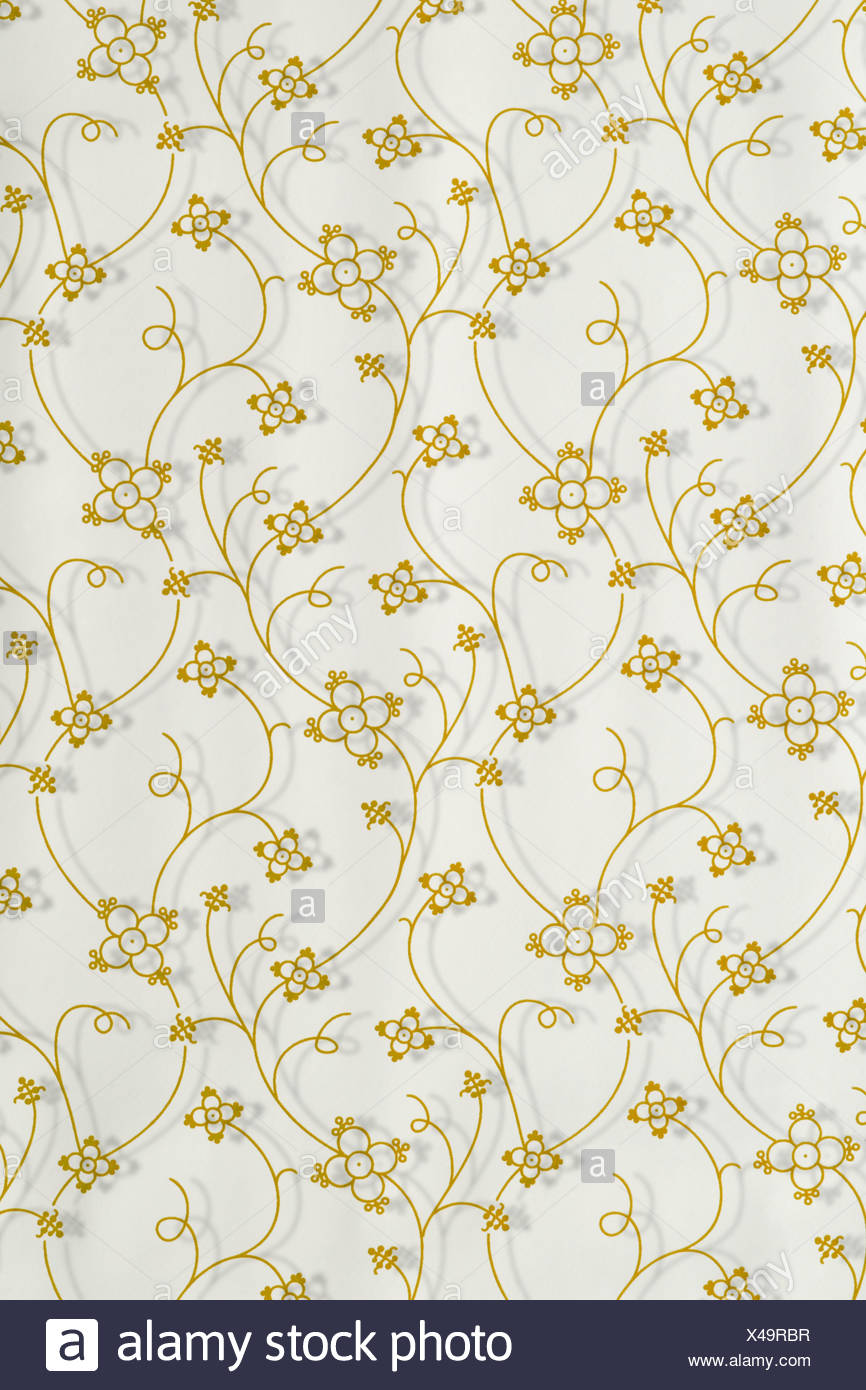 Close up of floral pattern - Stock Image