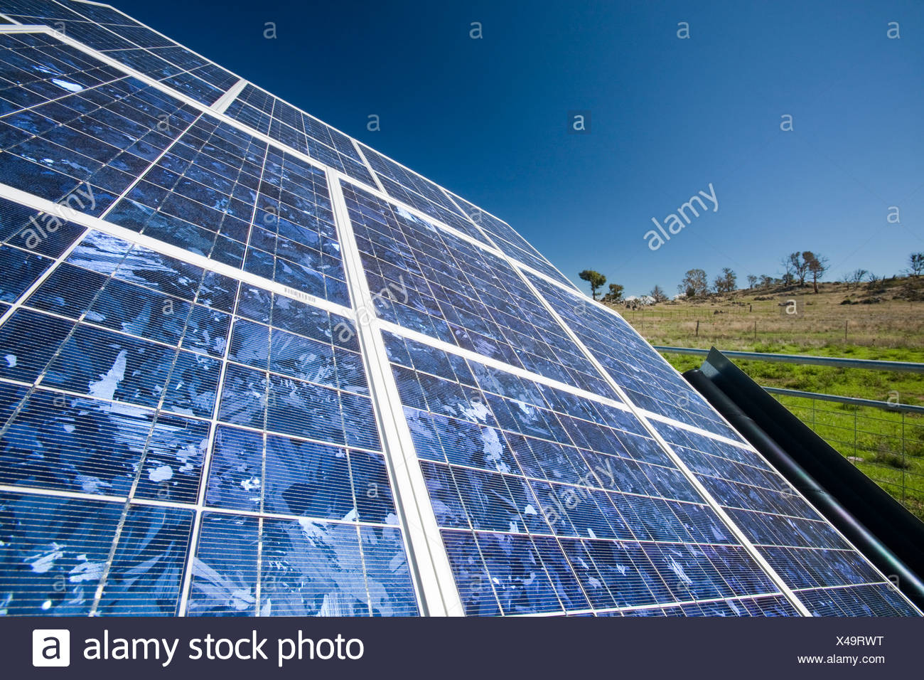 Solar voltaic panels in new South Wales, Australia. - Stock Image
