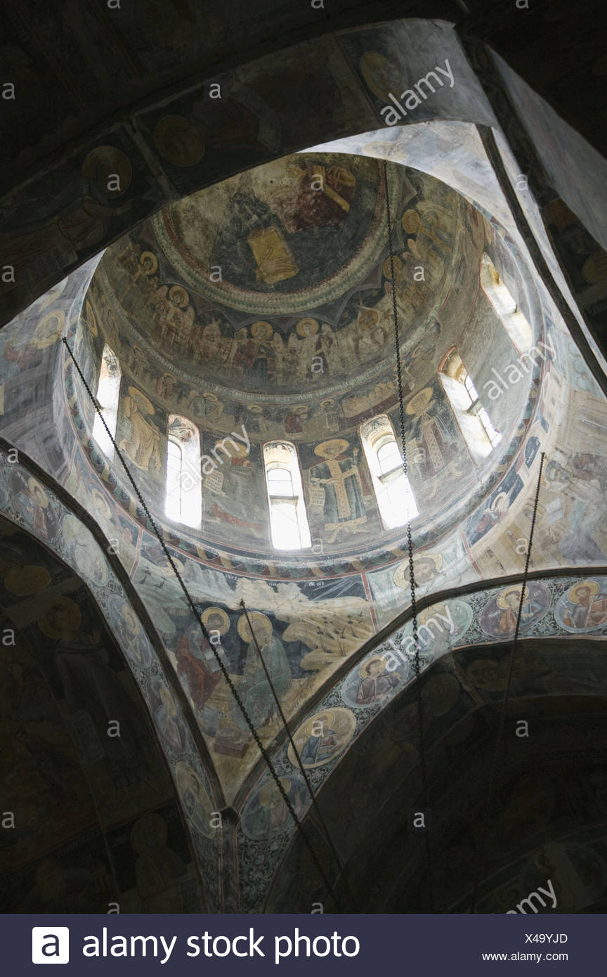 Serbien, Provinz Vojvodina, Krusedol Selo, Kloster, 15.Jh., Innenansicht, Fresken, - Stock Image