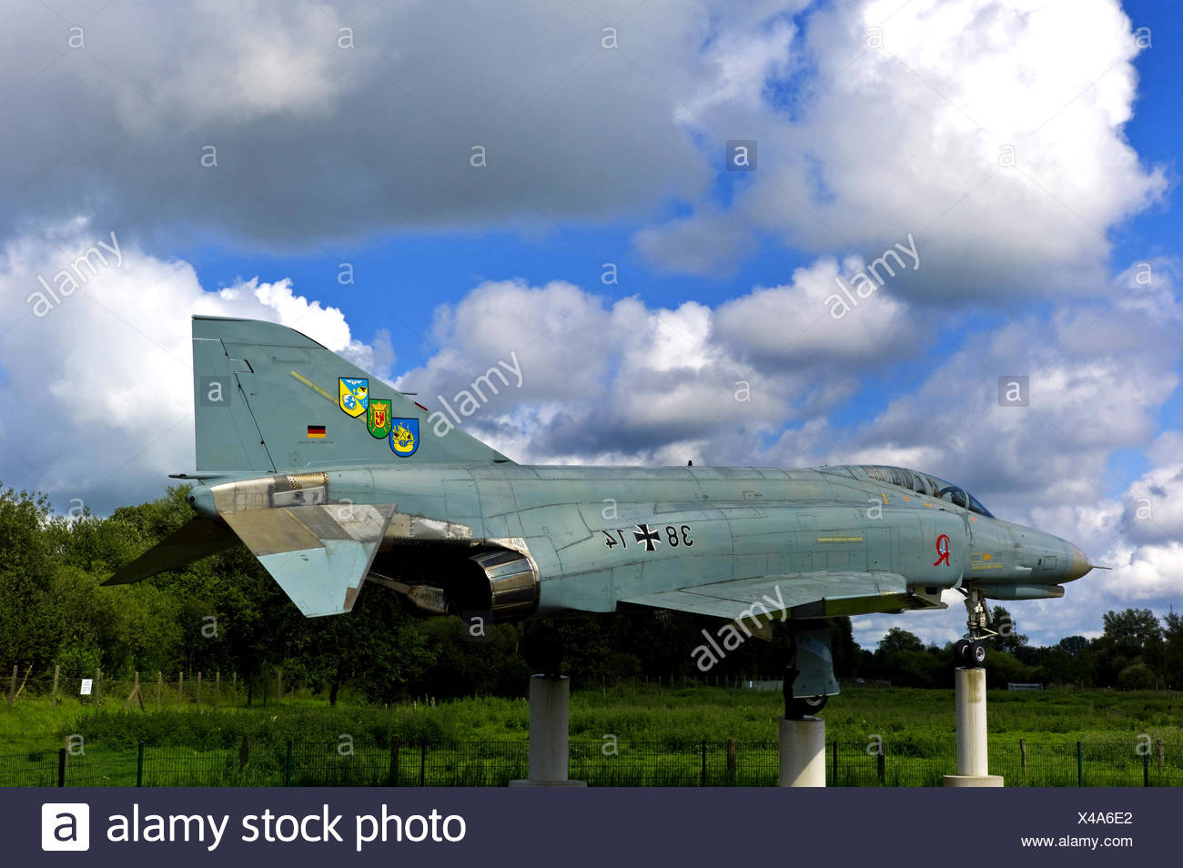 Phantom fighter on air base, Germany, Lower Saxony, Wittmund - Stock Image