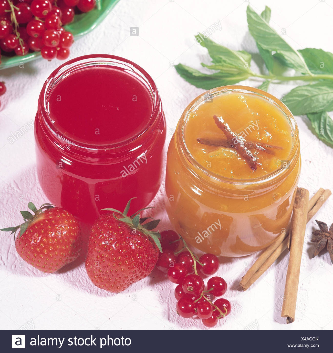 Jams Glasses Apricot Cinnamon Jam Johannisbeergelee Berries Jam