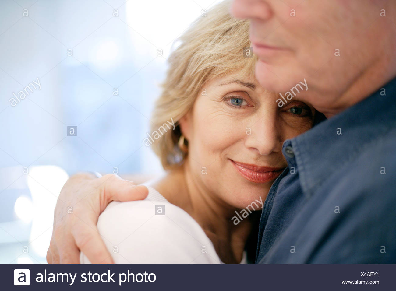 Couple embracing. - Stock Image