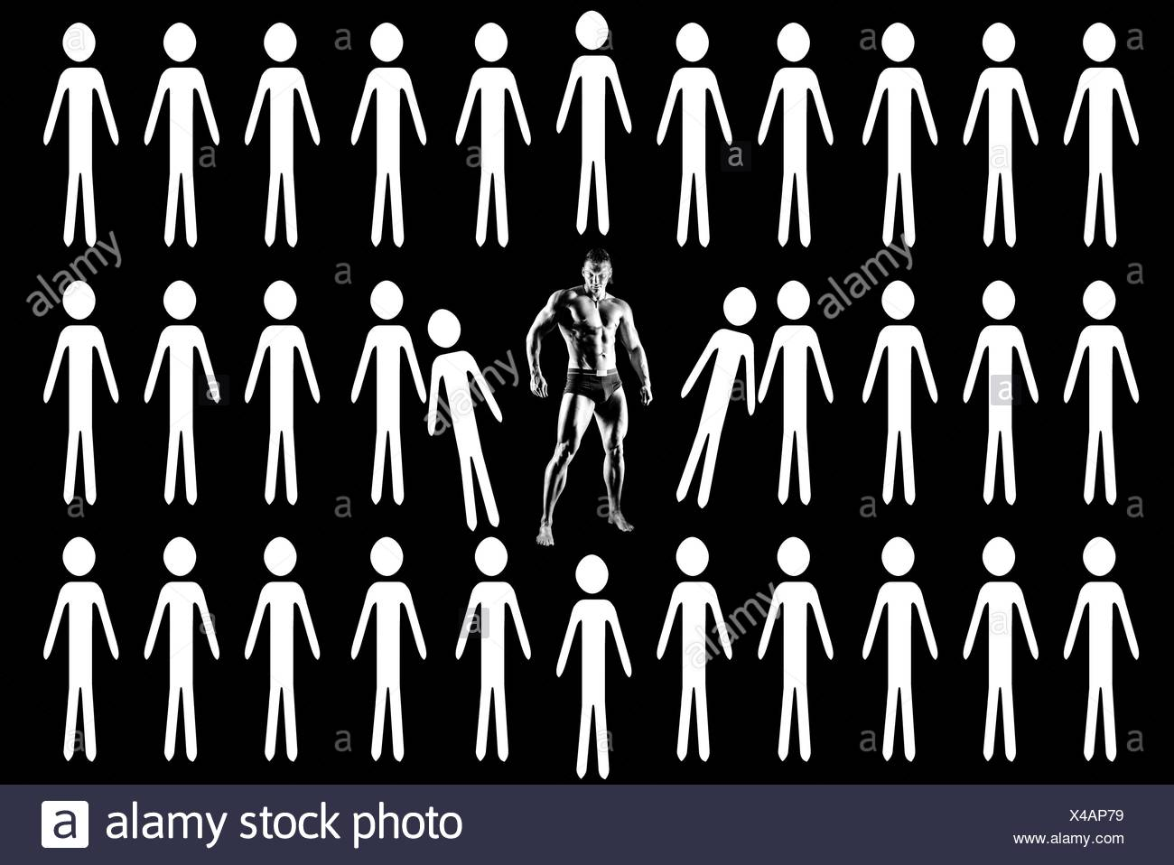 muscular guy - Stock Image