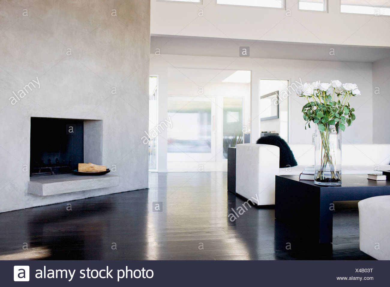 Interior of modern living room - Stock Image