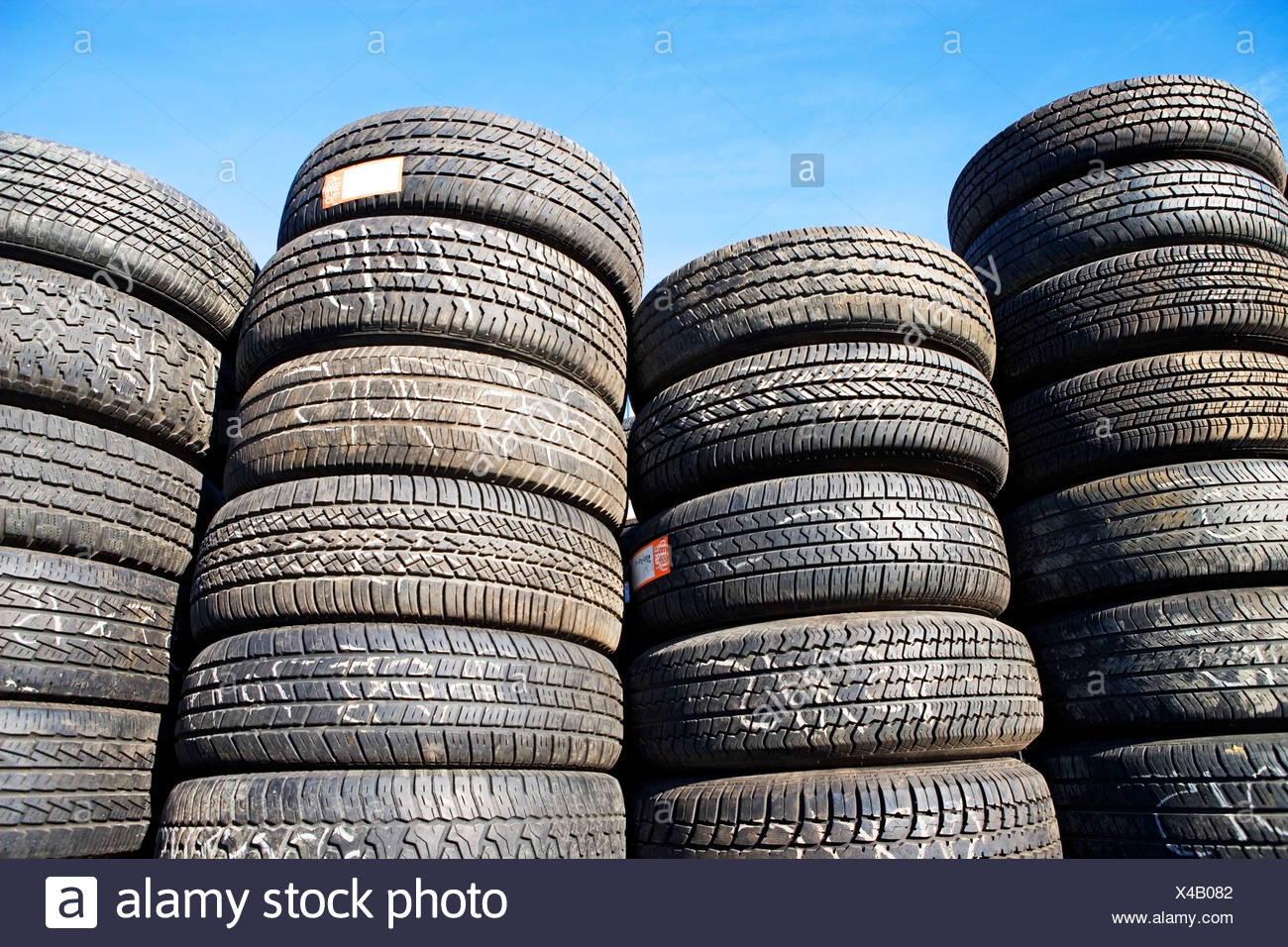 used car tires - Stock Image