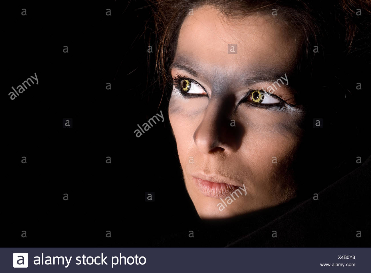 Mystery woman - Stock Image