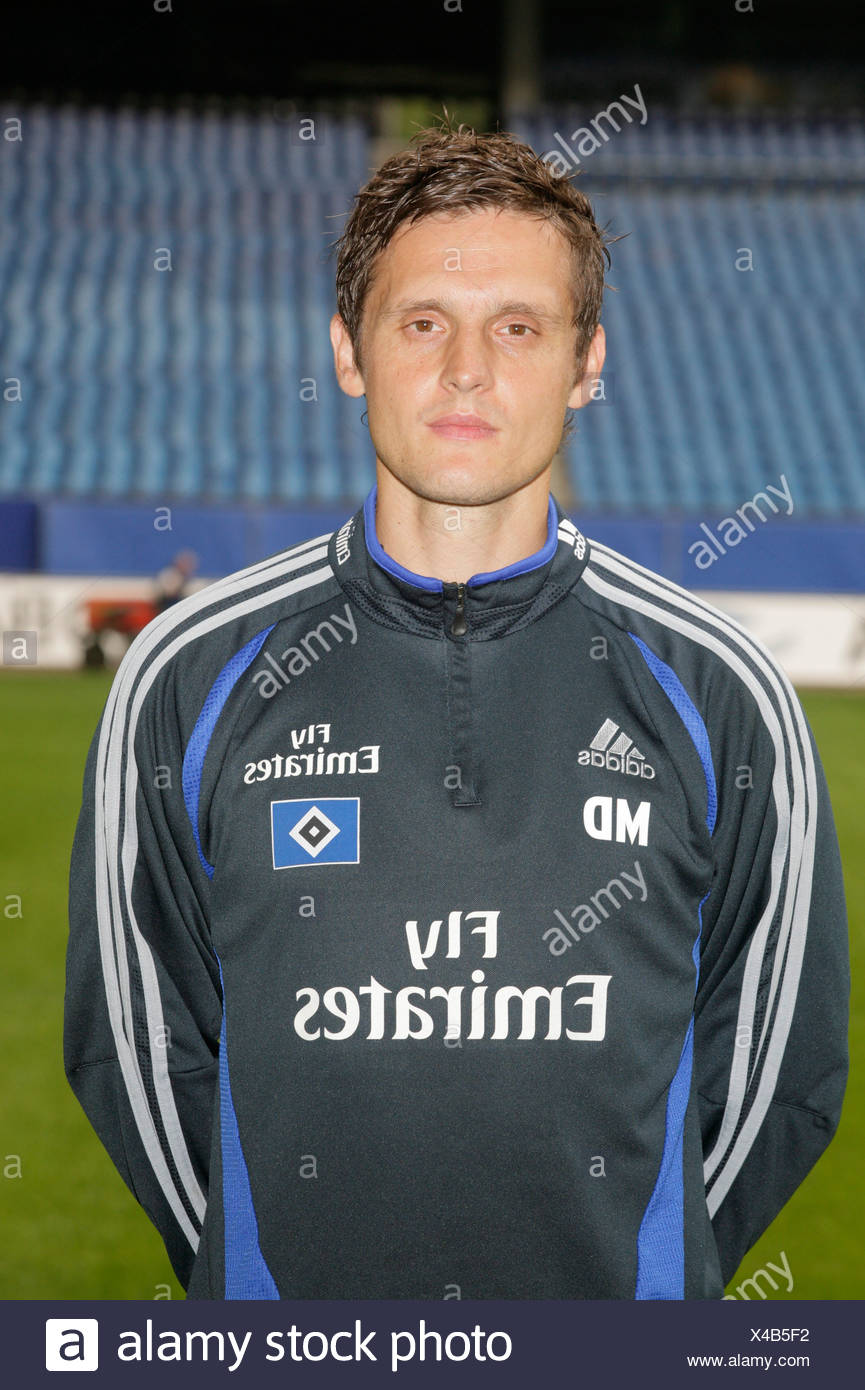 Duering, Manfred, 9.11.1971, German athlete (football), half length, athletic diagnosis, Hamburg Sports Club (HSV), season 2007 / 2008, Additional-Rights-Clearances-NA - Stock Image