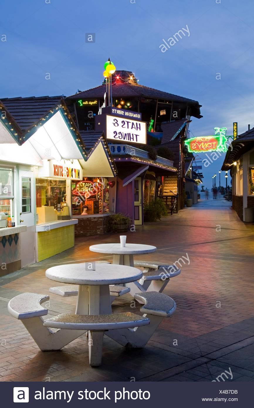 Restaurant On Pier Redondo Beach California Usa Stock