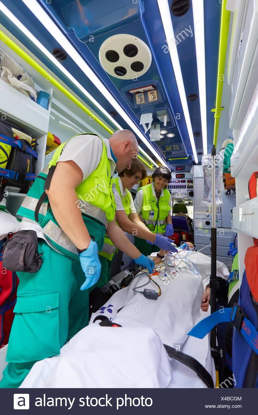 Spanish Emergency Ambulance Stock Photos & Spanish Emergency