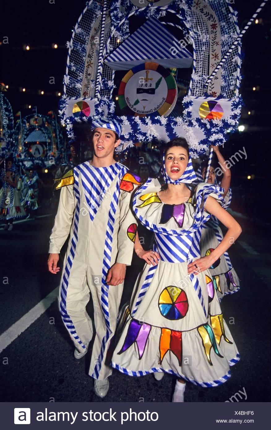 parade during Santo Antonio festivities, Lisbon, Portugal, Southern Europe. - Stock Image