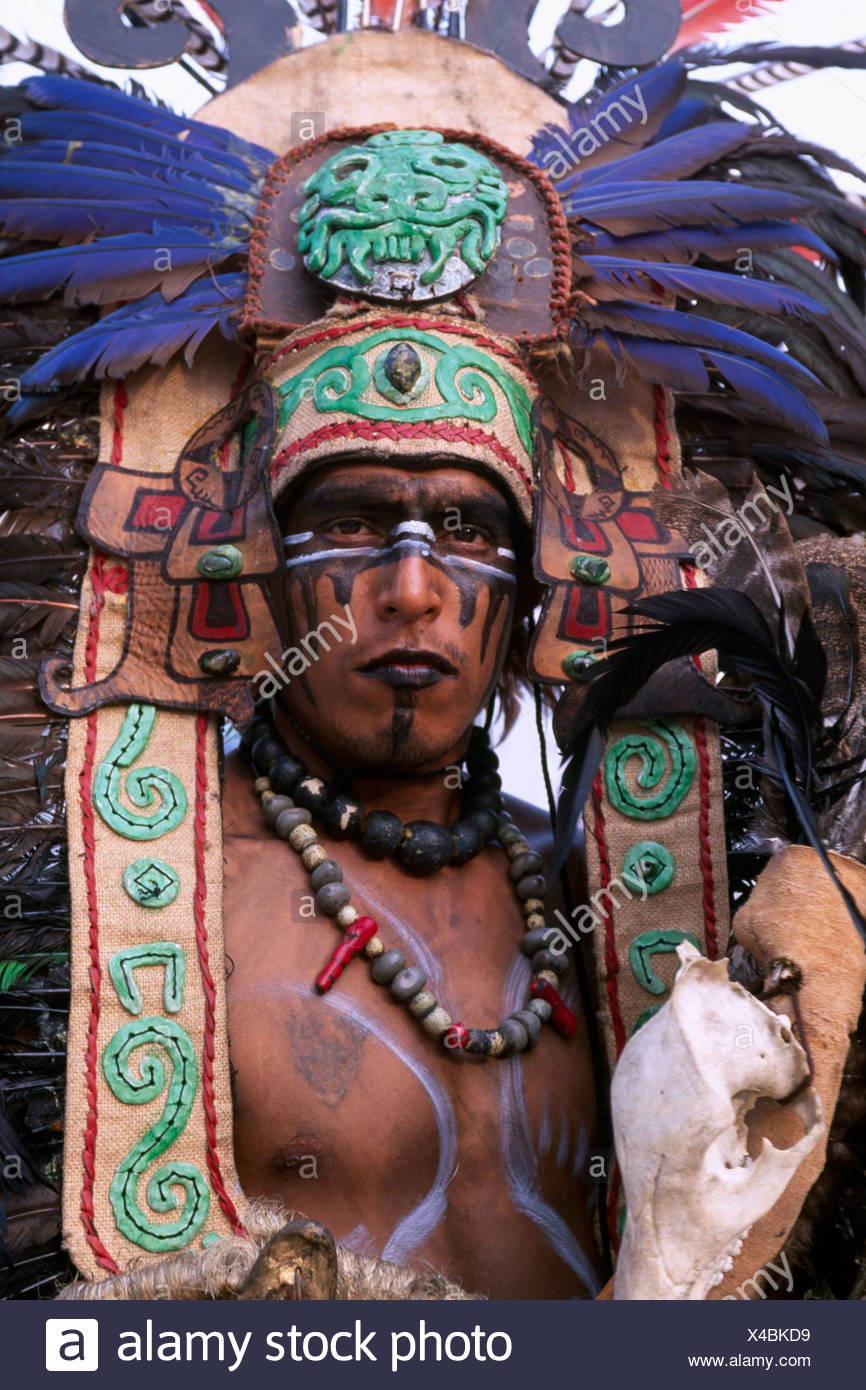May Calendar Los Angeles : Aztec costume stock photos images