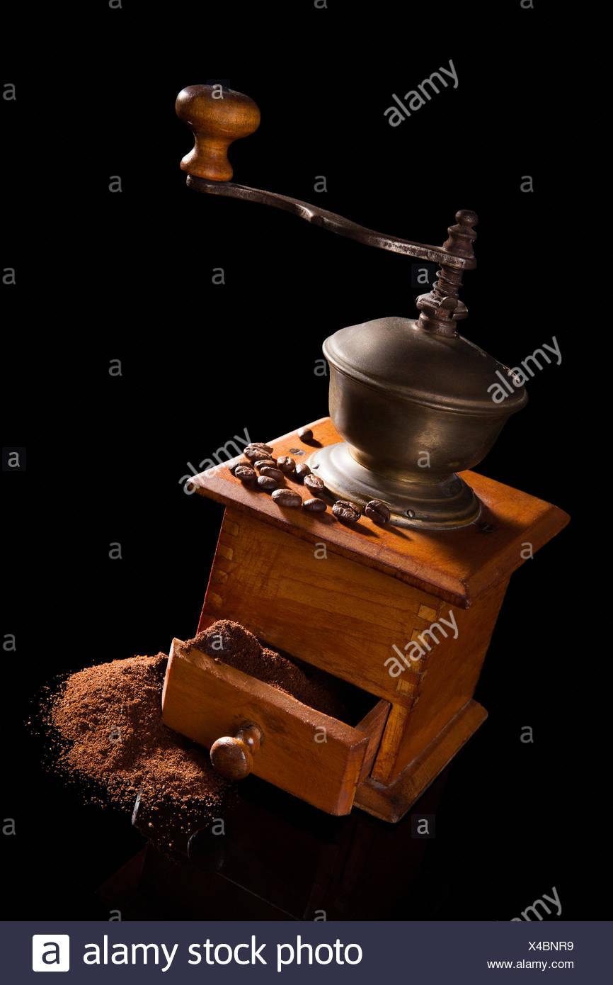 Vintage coffee mill still life. - Stock Image