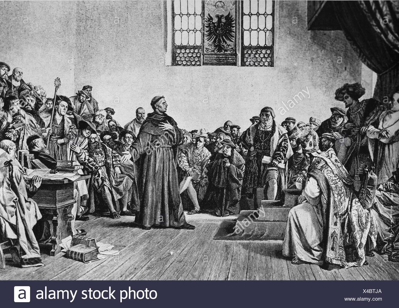 Martin Luther: The Great Reformer, print - Stock Image