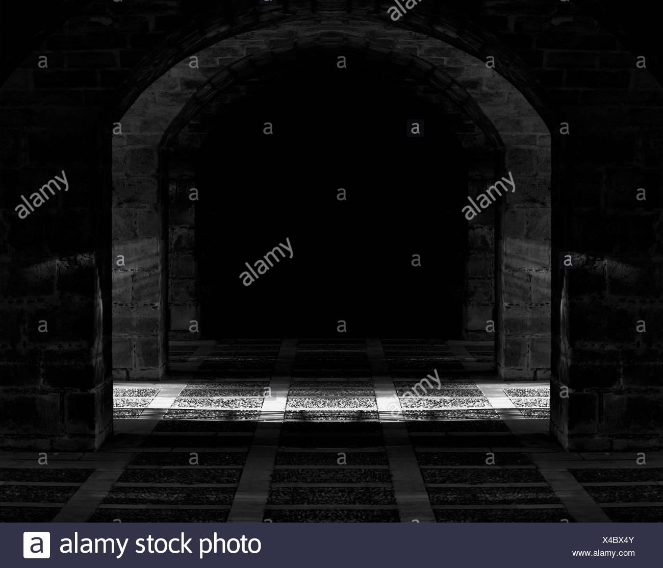 the dark cave - Stock Image