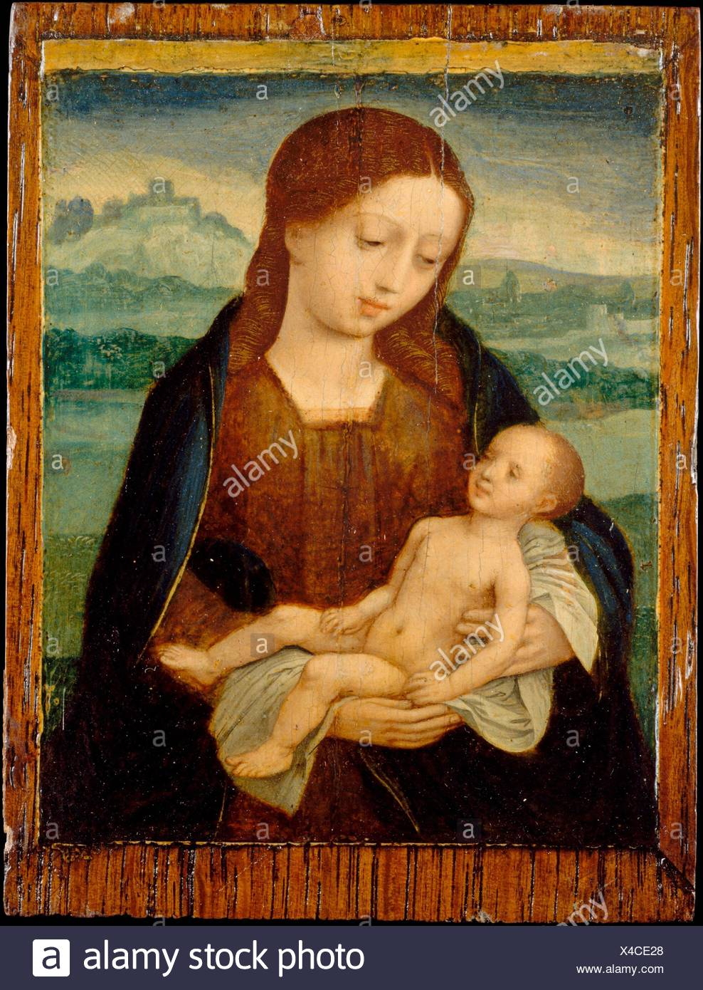 Virgin and Child. Artist: Master of the Female Half-Lengths (Netherlandish, active ca. 1525-50); Date: ca. 1525-50; Culture: Netherlandish; Medium: - Stock Image