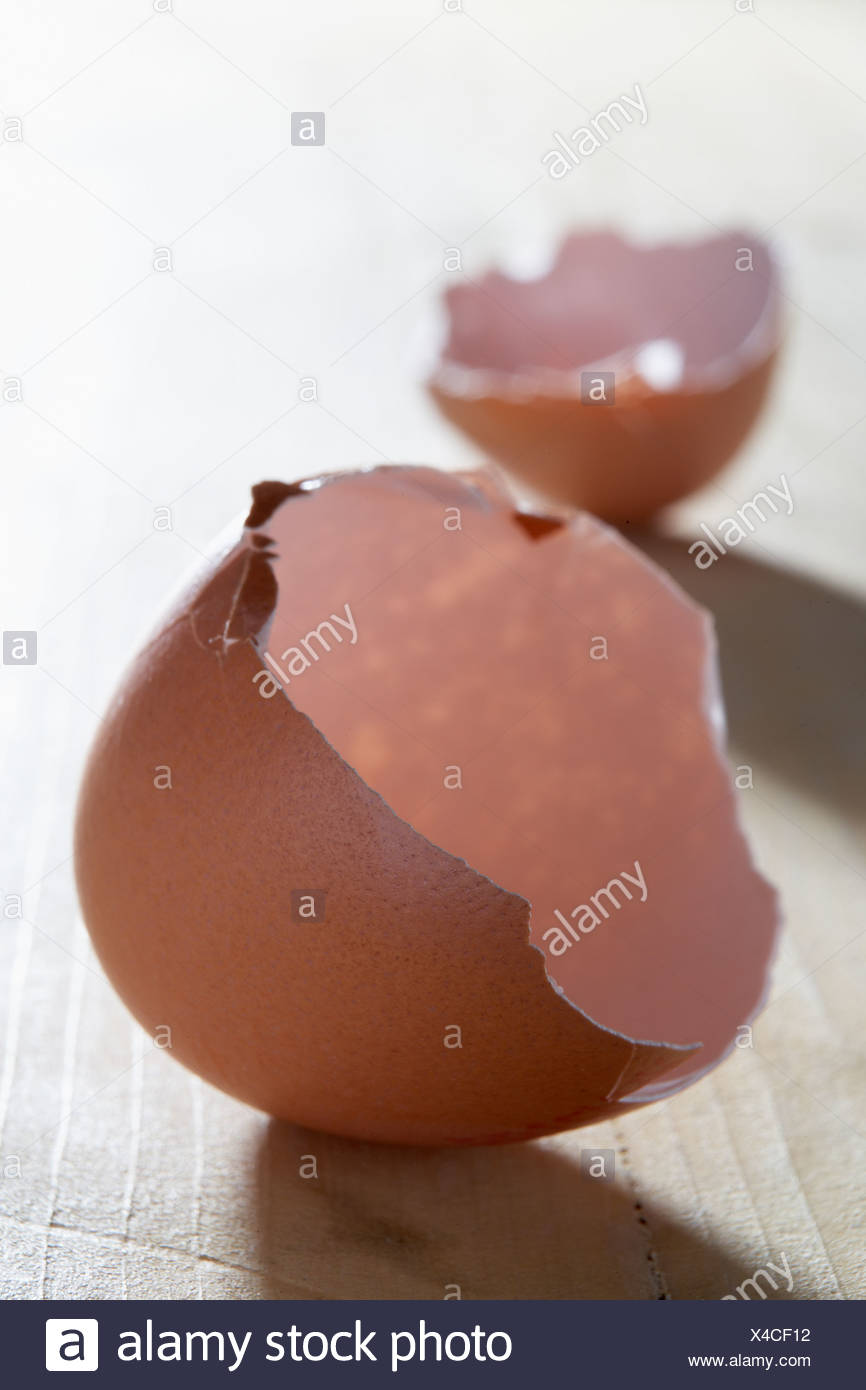Broken Egg Shell - Stock Image